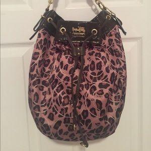 Coach Cheetah Purse Handbag Tote